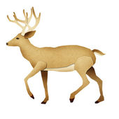Papercut Deer Recycled Paper — Stock Photo
