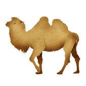 Papercut kamel återvunnet papper — Stockfoto