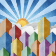 City View recycled papercraft background — Stock Photo #12032609