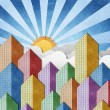 City View recycled papercraft background — Stock Photo