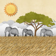 Elephant recycled paper background — Stock Photo