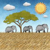 大象回收纸张背景 — 图库照片