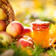 Apple jam in jar — Stock Photo #10909714