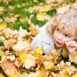 Portrait of child in autumn — Stockfoto #10909807