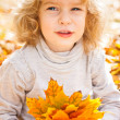 Royalty-Free Stock Photo: Funny kid in autumn