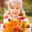 Child in autumn — Stock Photo #10909823