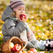 Child eating apple — Stock Photo #10909857