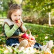 Child in autumn park — Stock Photo #10909966