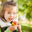 Child eating apple — Stock Photo #10909969