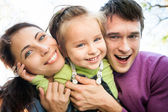 Portrait of happy family — Stock Photo