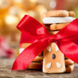 Cookies with red bow — Stock Photo #11888907