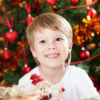 Happy boy in Christmas — Stock Photo