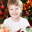 Stock Photo: Happy smiling kid in Christmas