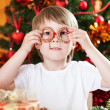 Boy having fun in Christmas — Stock Photo #11888954