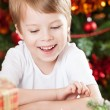 Happy kid in Christmas — Stock Photo
