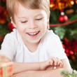 Happy kid in Christmas — Stockfoto