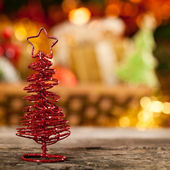 Handgemaakte decoratie van kerstmis — Stockfoto