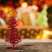 Ručně vyráběné vánoční dekorace — Stock fotografie