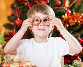 Boy having fun in Christmas — Stock Photo