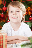 Smiling boy in Christmas — Foto Stock