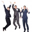 Three young business men jumping — Stock Photo #11589184
