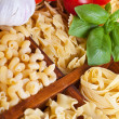 Royalty-Free Stock Photo: Pasta varieties with specific seasoning
