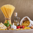 Stock Photo: Mediterranecuisine and diet ingredients