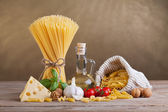 Mediterranean cuisine and diet ingredients — Stock Photo