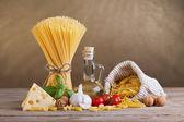 Ingredientes de cozinha e dieta mediterrânicas — Fotografia Stock