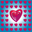 Royalty-Free Stock Vector Image: Many Hearts on white and blue background