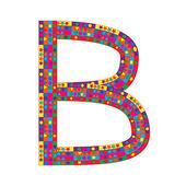 Letter B on white background — Stock Vector