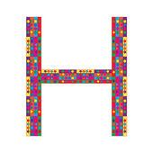 письмо h на белом фоне — Cтоковый вектор