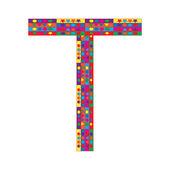 Letter T on white background — Stock Vector