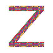 Letter Z on white background — Stock Vector