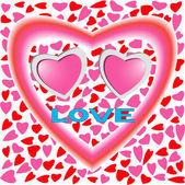 Twee harten in liefde — Stockvector