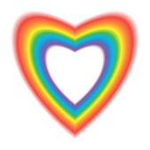 Heart in Rainbow Colors — Stock Vector
