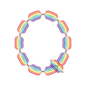 Letter Q made in rainbow colors — Stock Vector