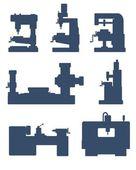 Machine tool icon set — Stock Photo