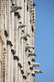 Gargoyles of Palma de Mallorca cathedral — Stock Photo