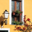 Facade of a mediterranean house - Stock Photo