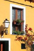 Facade of a mediterranean house — Stock Photo