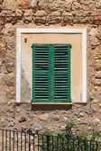 Italian style shutters — Stock Photo