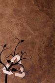 Alte parer hintergrund mit recycle zeichen und pflanze — Stockfoto