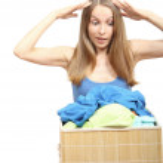 Woman wth laundry — Stock Photo #11877963