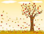 Autumnal Landscape — Stock Vector