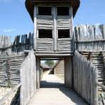 Biskupin - gateway to the village — Stock Photo