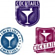 Vintage Style Cocktail Bar Stamps — Cтоковый вектор #10832369