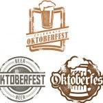 Oktoberfest Beer Stamps — Stock Vector #10832436