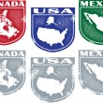 crestas norteamericano estilo vintage — Vector de stock