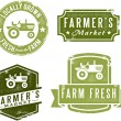 Vintage Style Farmer's Market Stamps — Stock Vector #10832482